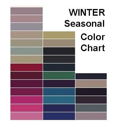 Color Pallet For Winter Photos Here Is An Example Of A