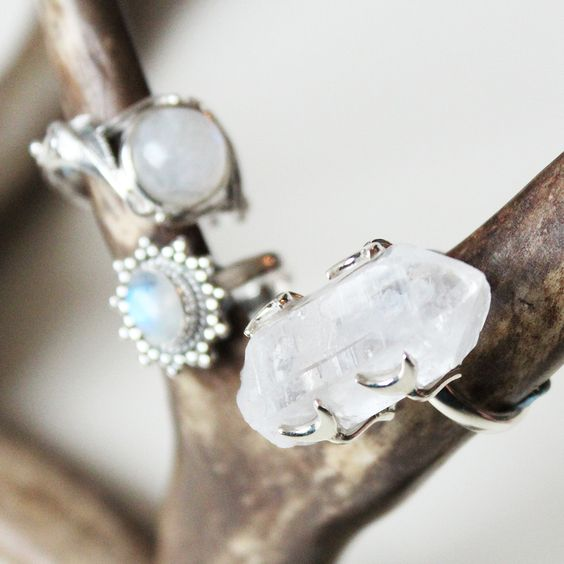 ☽☾∘S∘U∘P∘E∘R∘N∘O∘V∘A∘∘☽☾ Our A/W collection Supernova now in store at www.shopdixi.com // moon // rings // boho // bohemian // crystals // crystalring //jewellery // jewelry // magical // gypsy // gypset // hippie // moonstone // sterlingsilver // shop dixi // herkimer diamond // fiery labradorite // lepidolite // aqua aura // rose aura // midi rings // Quartz // Moonstone // Rings // Stacking // Boho // Bohemian // Hippie