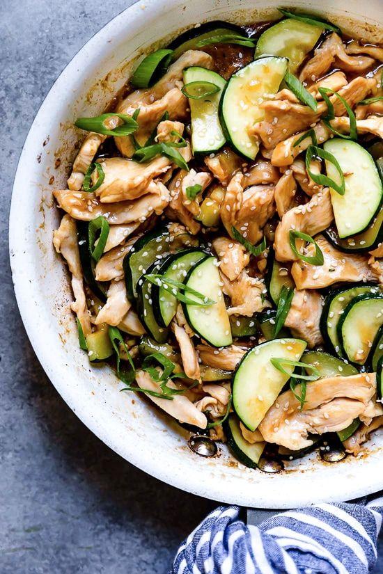 Easy Chicken And Zucchini Stir Fry Skinnytaste Recipe Zucchini Stir Fry Stir Fry Zucchini