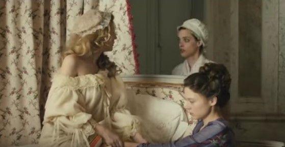 فيلم الدراما و الرومانسية الفرنسي Farewell My Queen Off Shoulder Women Movies