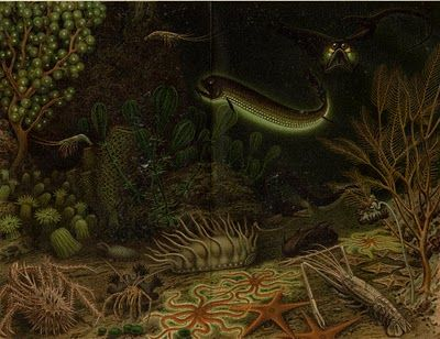 Rendition of the deep sea from the 1800s