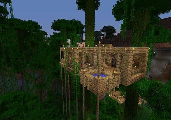 Jungle Tree House Screenshots Show Your Creation Minecraft Forum Minecraft Treehouses Minecraft Tree Minecraft