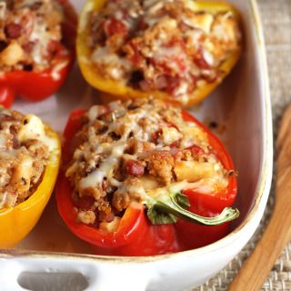 Quinoa and Apple Stuffed Bell Peppers