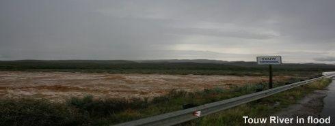 Touw River in flood