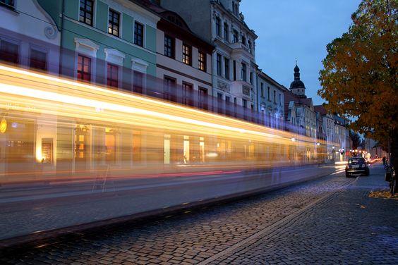 Langzeitbelichtung Heimatstadt Cottbus