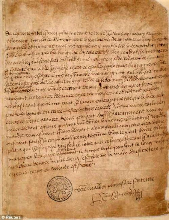 Henry VIII Love Letter to Anne Boleyn