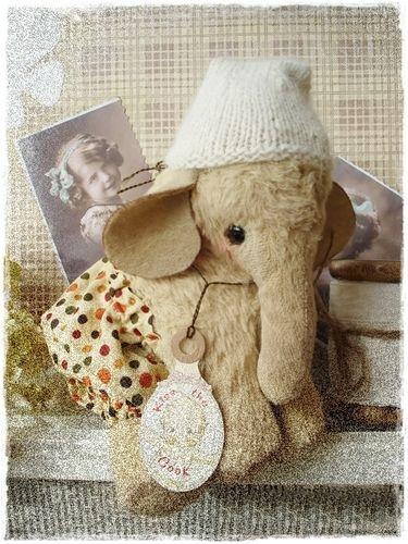 ♡ SCHNITT / E-BOOK Vintage Elefant (groß) ♡