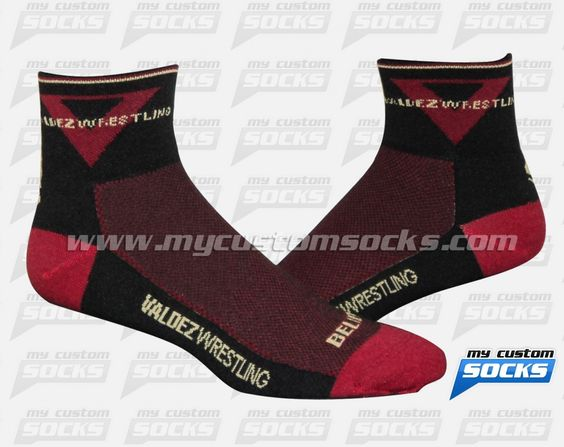 Socks designed by My Custom Socks for Valdez Wrestling in Santa Ana, California. Wrestling socks made with Coolmax fabric. #Wrestling custom socks - free quote! ////// Calcetas diseñadas por My Custom Socks para Valdez Wrestling en Santa Ana, California. Calcetas para Lucha hechas con tela Coolmax. #Lucha calcetas personalizadas - cotización gratis! www.mycustomsocks.com