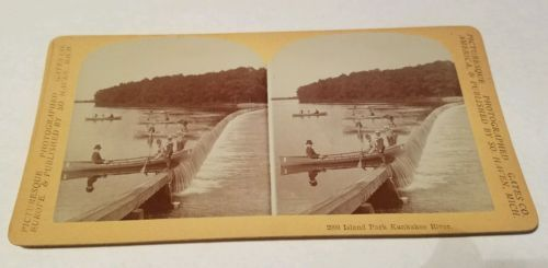 Rare Antique STEREOVIEW Island Park Kankakee River Momence Illinois  https://t.co/FO1blCyirg https://t.co/EKnO0bV2SL