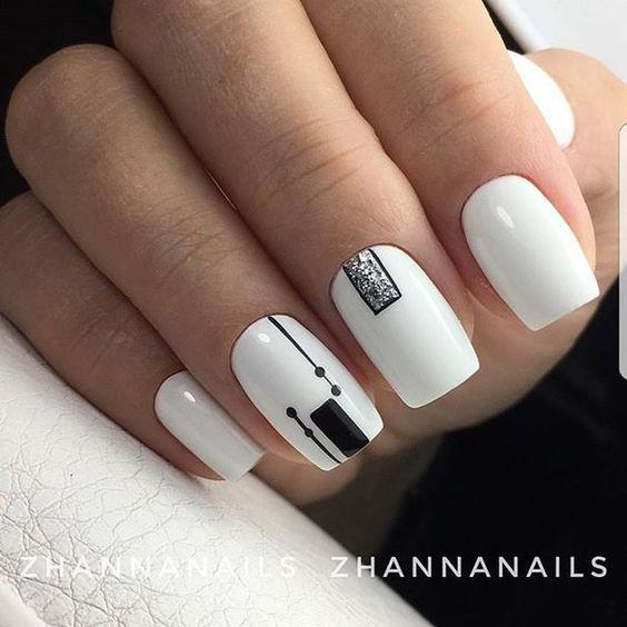 2018 50+ hottest White Matte Nail Designs | BeautyBigBang