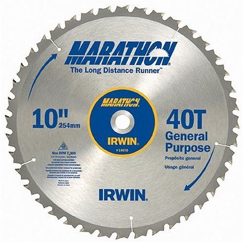 Irwin Marathon 14070 10 40t Marathon Miter And Table Saw Blades Continuously The Product At The Table Saw Blades Circular Saw Blades Used Woodworking Tools