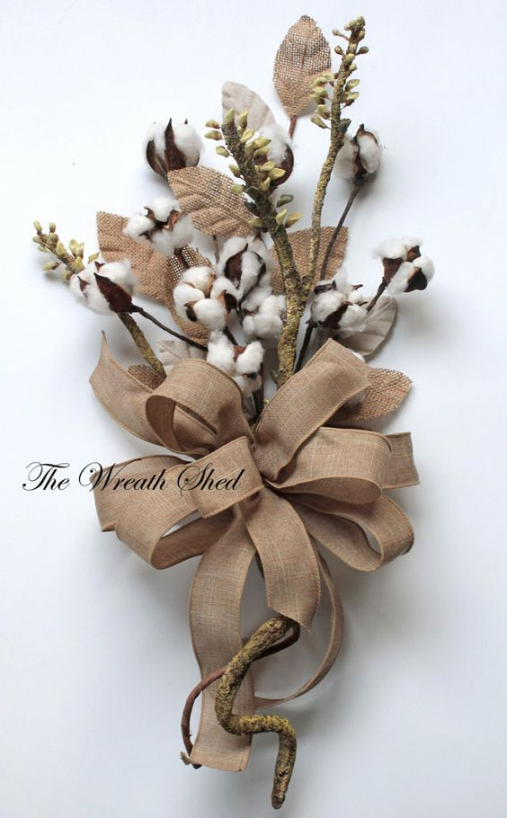 2nd Anniversary Bouquet, Natural Cotton Bolls, Cotton Anniversary Gift, Cotton Arrangement, Bridal Bouquet, Wedding Decor, Natural Cotton