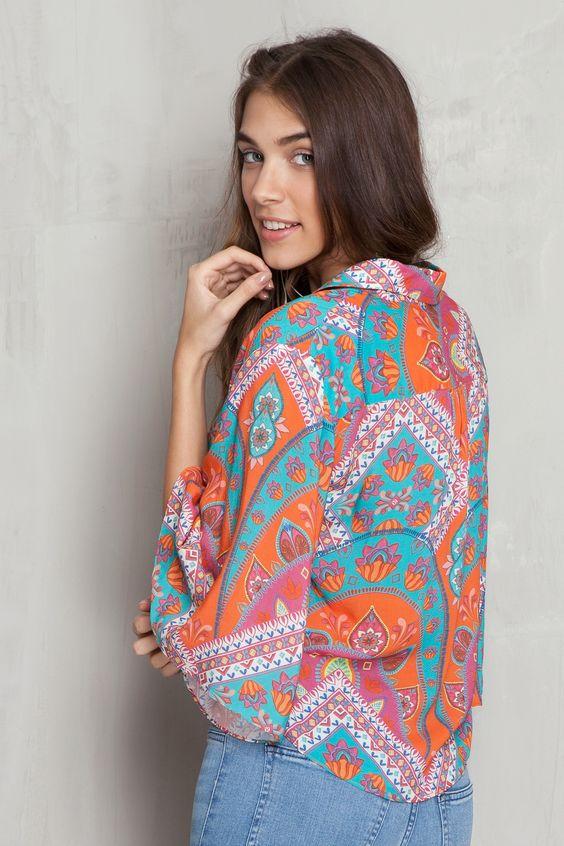 Camisa nó estampada ibiza | Dress to