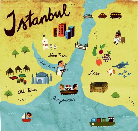 Illustrated Istanbul guide to IStanbul what to do Europe – Travel Maps For Sale
