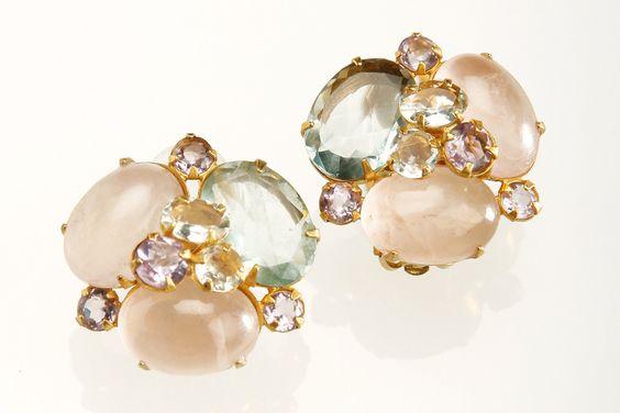 Small Cluster Earrings