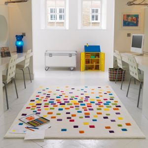 Debenhams Multi Coloured Harlequin Space Dust Rug At Mobile
