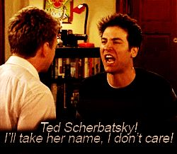 Ted and Barney fight over Robin