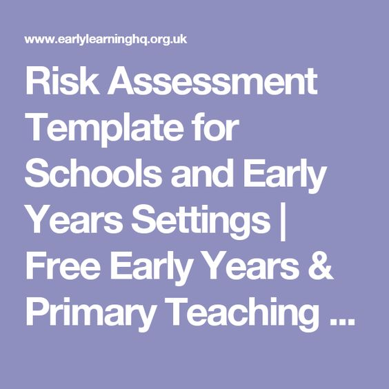 School Risk Assessment Template University Pinterest School - it risk assessment template