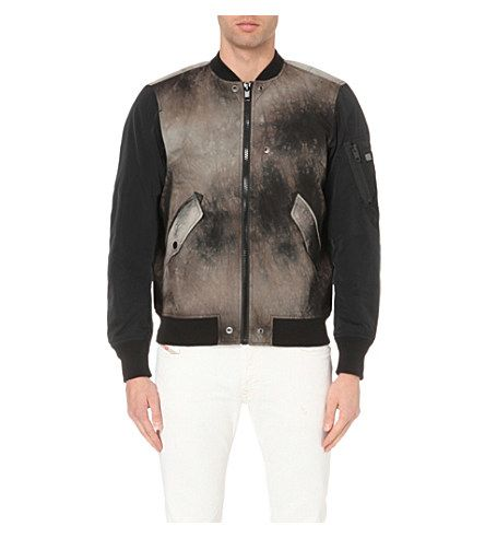 DIESEL J-Kitten Tie-Dye Shell Bomber Jacket. #diesel #cloth #coats & jackets
