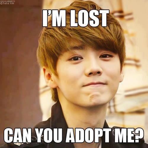 its hard to say no... #Luhan #EXO #Kpop funny!