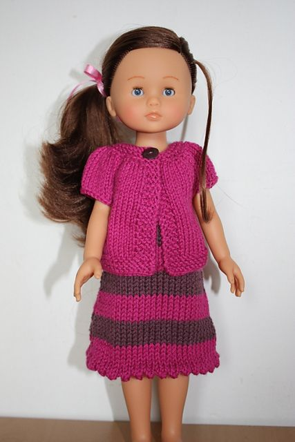 Free Knitting Patterns For Dolls Pinterest : Free! - Ravelry: Little Louena pattern by Muriela ...