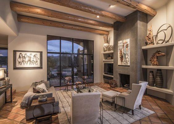 Southwestern Contemporary Home Decor Southwest Pinterest Decorating Ideas Fireplaces
