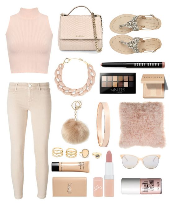 """nicely colored nude"" by romanaroundski1 ❤ liked on Polyvore featuring WearAll, Antik Batik, Givenchy, Bobbi Brown Cosmetics, Jacob Cohёn, DIANA BROUSSARD, Maybelline, Bloomingville, Lana Jewelry and LA: Hearts"