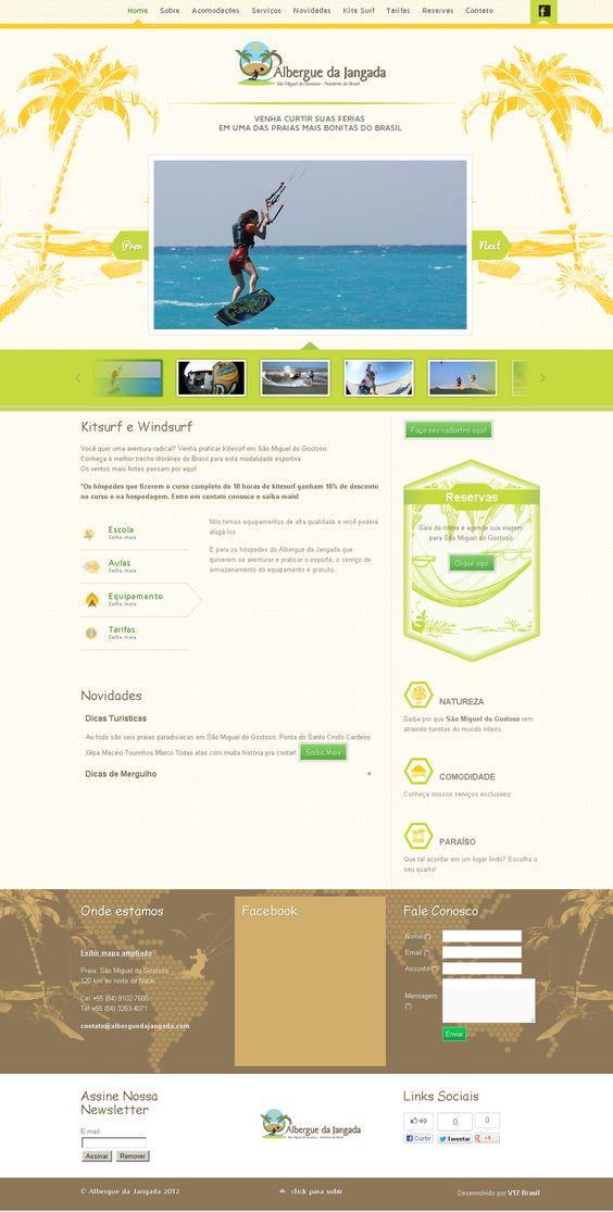Albergue da Jangada projeto de hospedagem e hospedes, com possibilidades de prática de Kitsurf e Windsurf