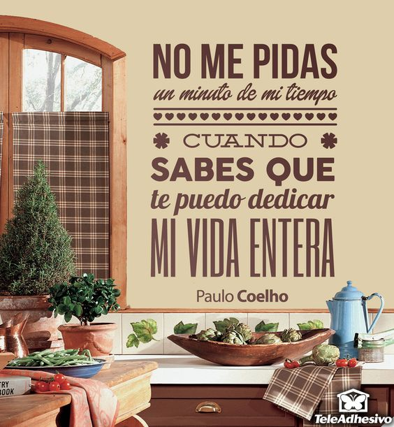Tes and paulo coelho on pinterest for Vinilos pared entera
