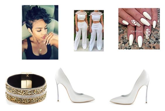 """""""Untitled #204"""" by jinilwilson ❤ liked on Polyvore featuring Casadei and GUESS"""