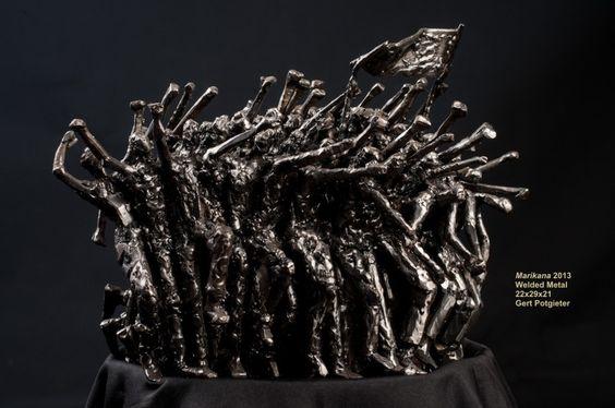Metal Sculpture: Marikana