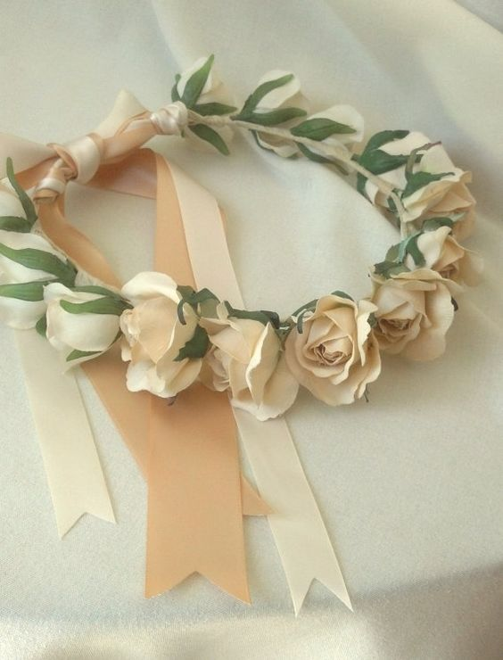 Wedding Accessories Flower girl halos set of 3custom by AmoreBride, $160.00