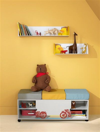 banc de rangement th me african safari beige imprime vertbaudet enfant entr e ou chambre. Black Bedroom Furniture Sets. Home Design Ideas