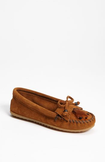 Minnetonka 'Feather' Moccasin-brown suede