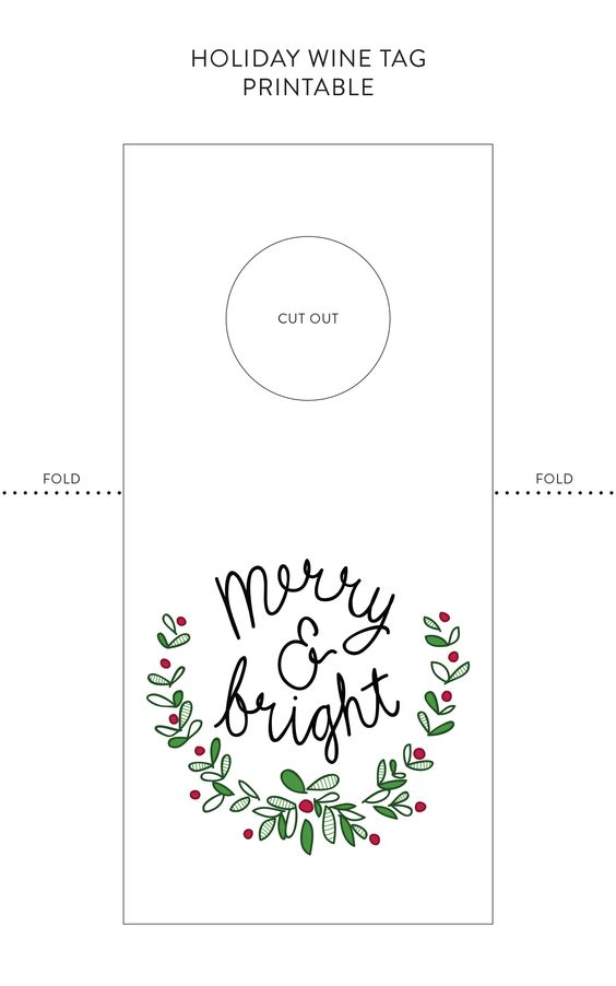 Good to put on a bottle of wine as a house warming gift Gifts - wine tag template