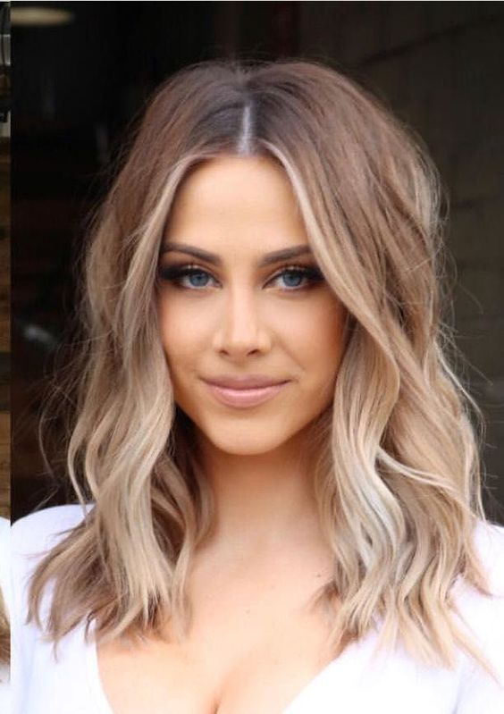 Modne Ciecia Do Ramion Top 21 Swietnych Propozycji Na Modne Wlosy Do Ramion Shoulder Length Hair Balayage Hair Styles Lob Hairstyle