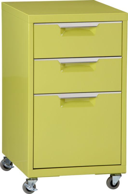 TPS chartreuse file cabinet | CB2