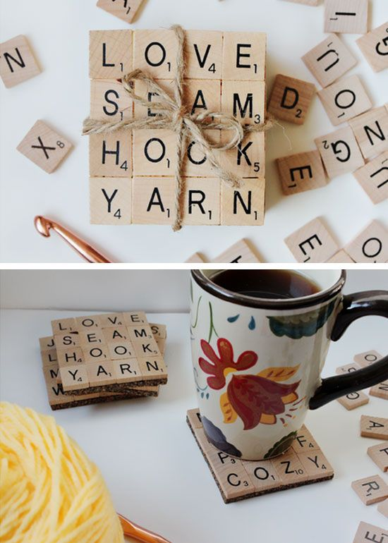 Diy christmas gifts christmas gift ideas and scrabble on Easy gift ideas for friends