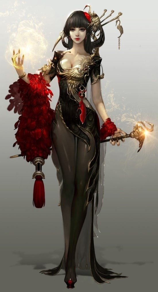 Character design and concept development - Bruja, attractive aura: