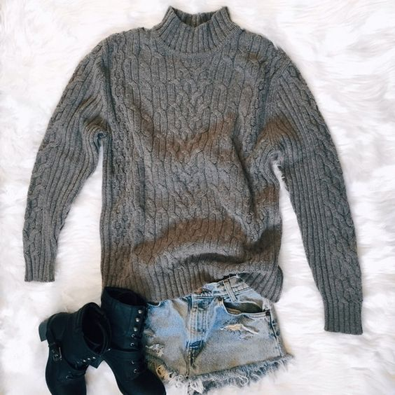 """Oversized Sweater Perfect with a pair of ripped shorts and some booties for that bohemian summer look  (FABRIC 35% Wool 35% Acrylic 30% Cotton) (MEASUREMENTS Bust *flat* 22"""" Arm Length 25"""" Length 26"""") St. John's Bay Sweaters Cowl & Turtlenecks"""