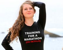 Training For A Marathon On Netflix Long Sleeve Shirt TV Show Pretty Little Liars Scandal Suits