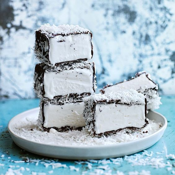 """""""To celebrate Australia Day this year, I'll be treating everyone to my frosty twist on a great Australian icon with these cool lamington ice-cream bars. If…"""""""