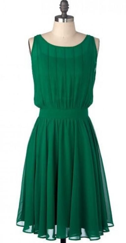 Simple green emerald short bridesmaid dress minimalist for Short green wedding dresses