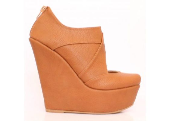 Fuai Calzado: BT003 TAN - Kichink! WEDGE - PLATAFORMAS - CUÑAS - BOTÍN -BOOTIES