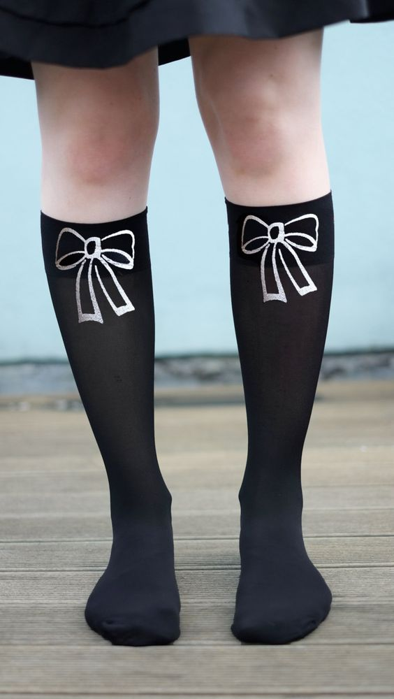 Printed socks bow ribbon. £10.00, via Etsy.
