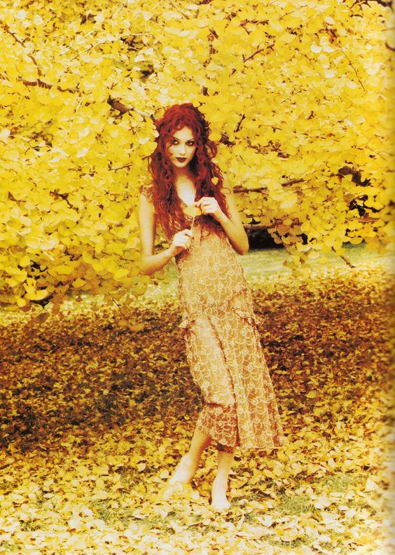 Shalom Harlow photographed by Ellen Von Unwerth for Vogue, Feb. 1993.
