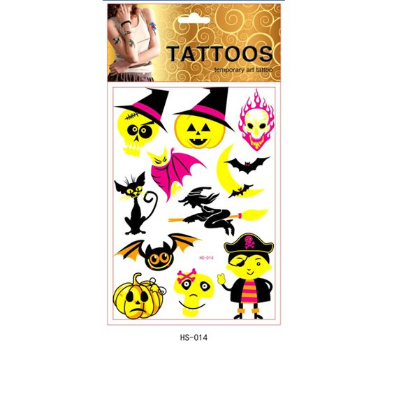 Stock Halloween Stickers and Tattoos supplier