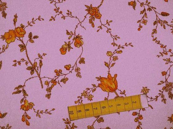Baumwollcord digital bedruckt mit Blumenranken