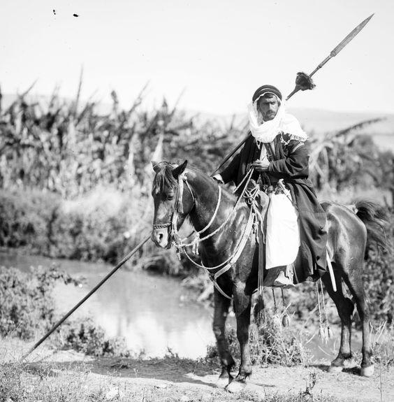 Bedouin Arab Lancer (1213-1318 H Potrait) #History #Photography: