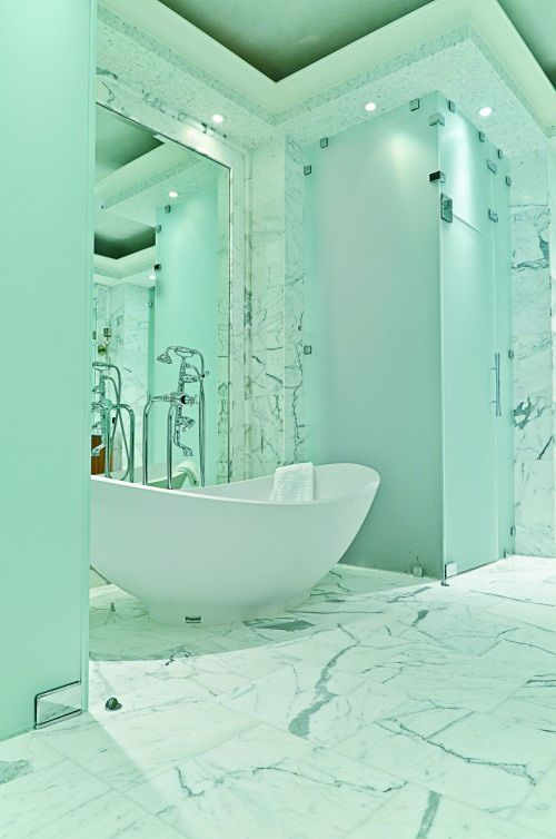 Turquoise Bathrooms Timeless And Captivating Interior: A Bit Overly Mint But You Can Never Have To Much Mint